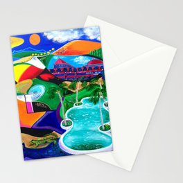 Night in Ponce, Puerto Rico Stationery Cards