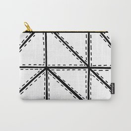Marker Patchwork – Triangles and Rectangles – Black and White Carry-All Pouch