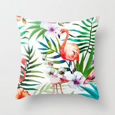 Tropical Birds vol.2 Throw Pillow