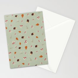 Hedgehogs In The Autumn Forest Stationery Cards