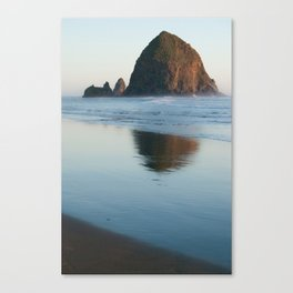 haystack rock - oregon Canvas Print