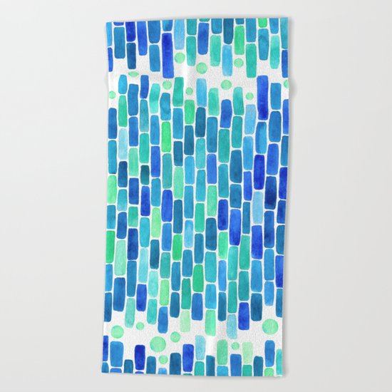 Water Mosaic Beach Towel