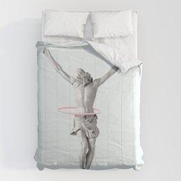 HULA HOOP JESUS Comforters