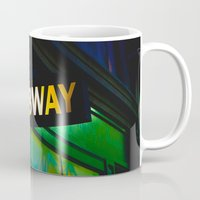 subway Mugs featuring Subway by Mark Spence