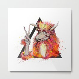 Peace of the Firey Metal Print