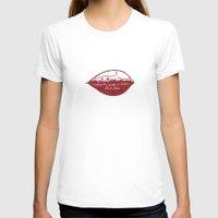 rio de janeiro T-shirts featuring Rio de Janeiro Skyline by Paula Belle Flores