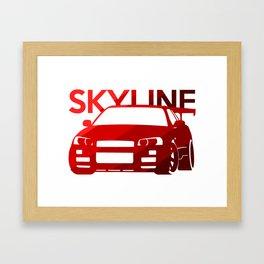 Nissan Skyline GT-R  - classic red - Framed Art Print