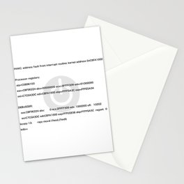 Kernel_Panic Stationery Cards