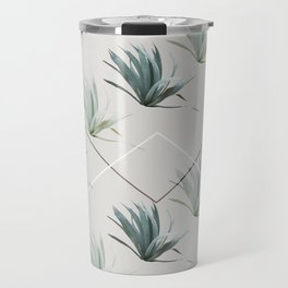 Succulents with Chevrons Travel Mug