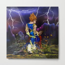 Saiyan brutality iPhone 4 5 6 7 case, pillow case, mugs and tshirt Metal Print