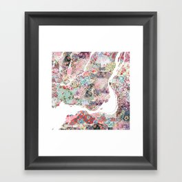 Montreal map canada Framed Art Print
