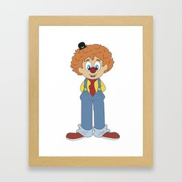 The Clown Framed Art Print