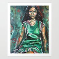 jasmine Art Prints featuring Jasmine by Juliette Caron