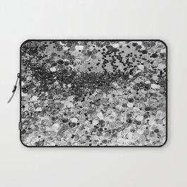 Sparkly Silver Glitter Confetti Laptop Sleeve