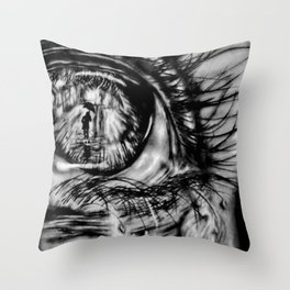 Divergent Eye Throw Pillow