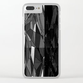 Etching in Black and White Clear iPhone Case
