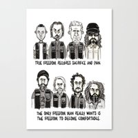 sons of anarchy Canvas Prints featuring Anarchy by Mermelada de Sesos