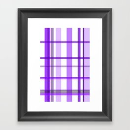 Shades of Purple and White Framed Art Print