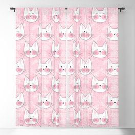 Little Girls Birthday Kitty Cats Blackout Curtain