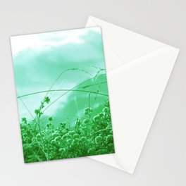 Beach Slope Brush minty green Stationery Cards