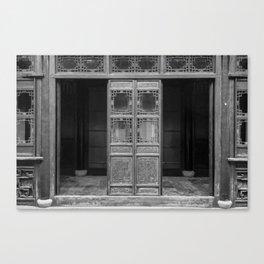 Traditional Entranceway - BW Canvas Print