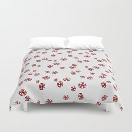 Peppermint Candy in White Duvet Cover
