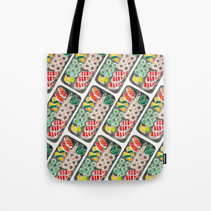 Sushi Collection – Black Platter Tote Bag