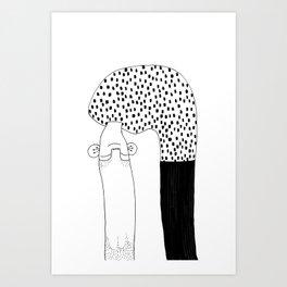 Upside Down Art Print