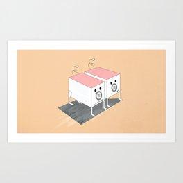 Ziggie Piggie Art Print