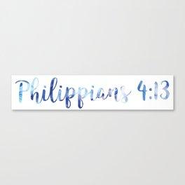 Philippians 4:13 Canvas Print
