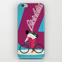 cycling iPhone & iPod Skins featuring Cycling by Carlos Hernandez