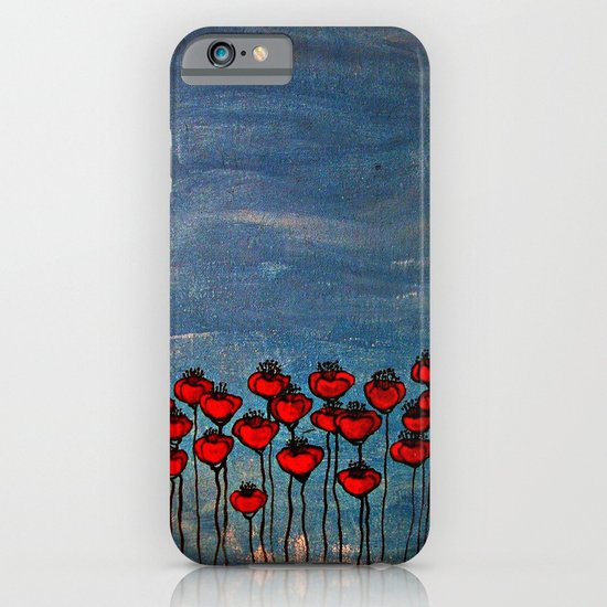 Sea of poppies. iPhone & iPod Case