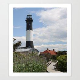 Walkway To Fire Island Lighthouse Art Print