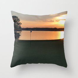 11 at Sunset Throw Pillow