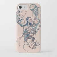 jellyfish iPhone & iPod Cases featuring Jellyfish by Huebucket