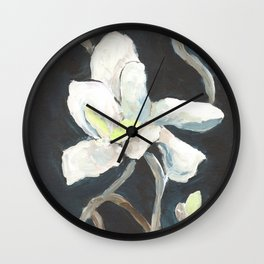 Dark Magnolia Wall Clock