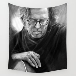 Eric Clapton PENCIL DRAWING Wall Tapestry