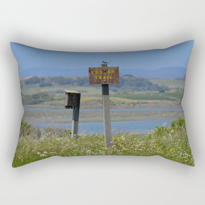 end of trail Rectangular Pillow