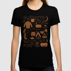 Autumn Nights: Halloween Womens Fitted Tee Black LARGE