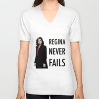 regina mills V-neck T-shirts featuring Regina never fails by Geek World