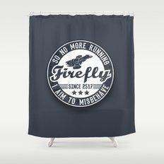 Misbehave Badge V1 Shower Curtain
