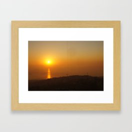 Sunset in Lebanon Framed Art Print