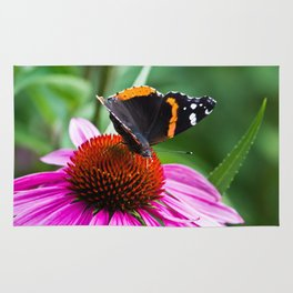 Red Admiral Butterfly Rug