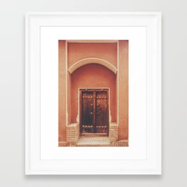 Abyaneh Door #2 (from the series 'Iranian Doors') Framed Art Print