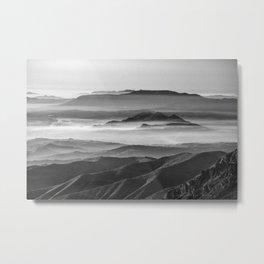 Foggy sunset. Mountains Metal Print