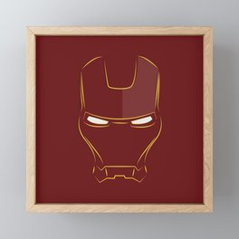 iron man face Framed Mini Art Print