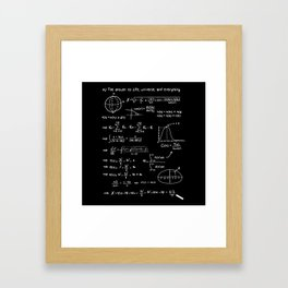 The answer to life, univers, and everything. Framed Art Print