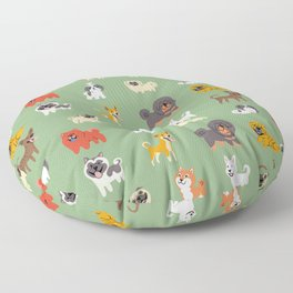 ASIAN DOGS Floor Pillow