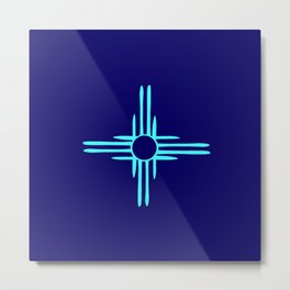 flag of new mexico hand drawn 3 inverted colors Metal Print