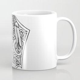 Huia Maori Art Kowhai Flower Coffee Mug
